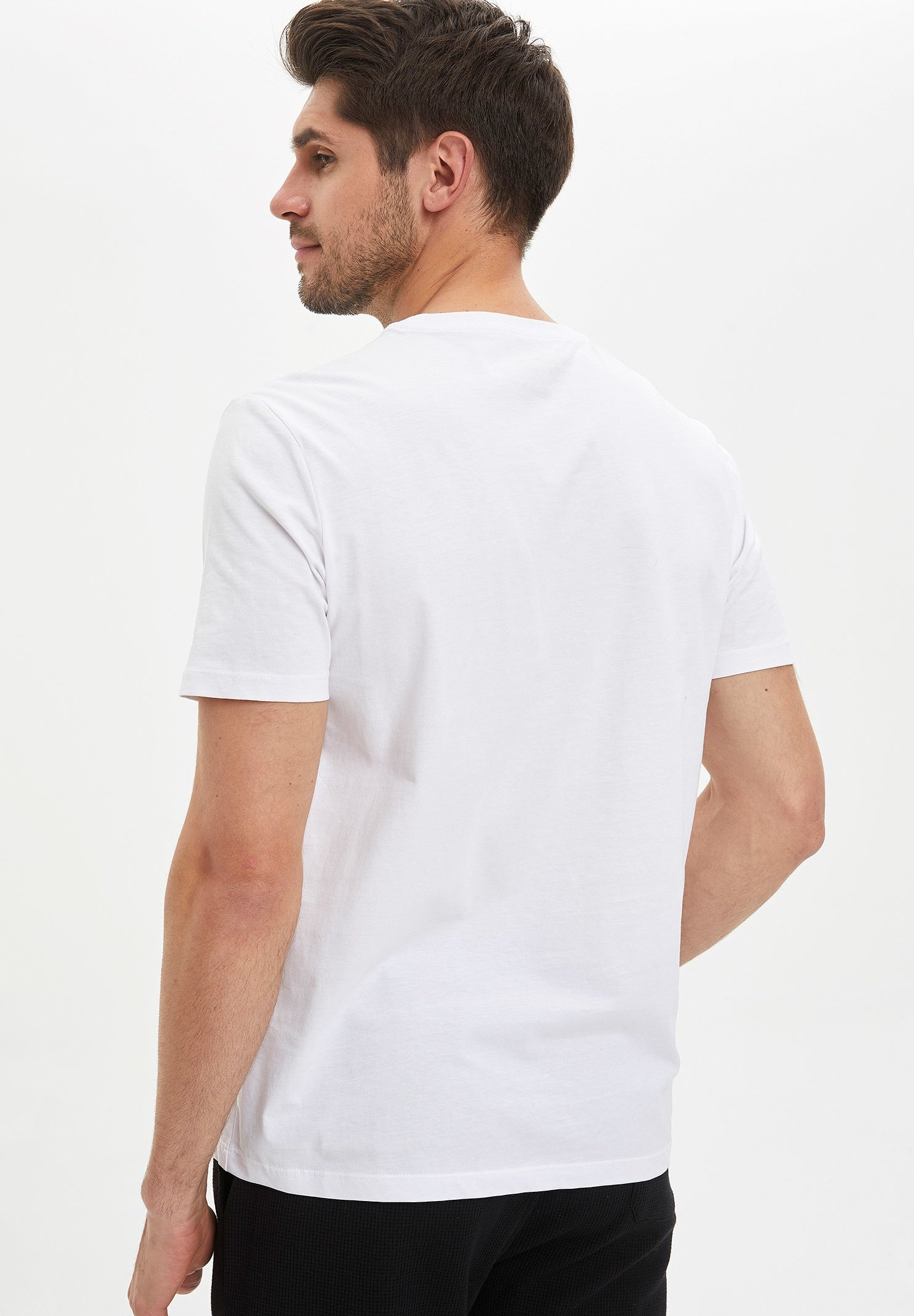 DeFacto Basic T-shirt - white Af5YT