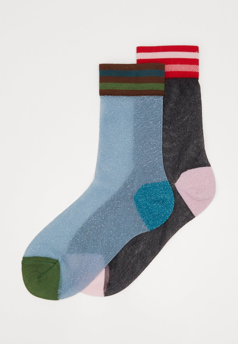 Hysteria by Happy Socks - EMMELINA CREW SOCK 2 PACK - Calcetines - blue
