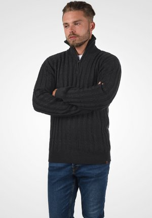 TROYER PAULO - Jumper - charcoal mix