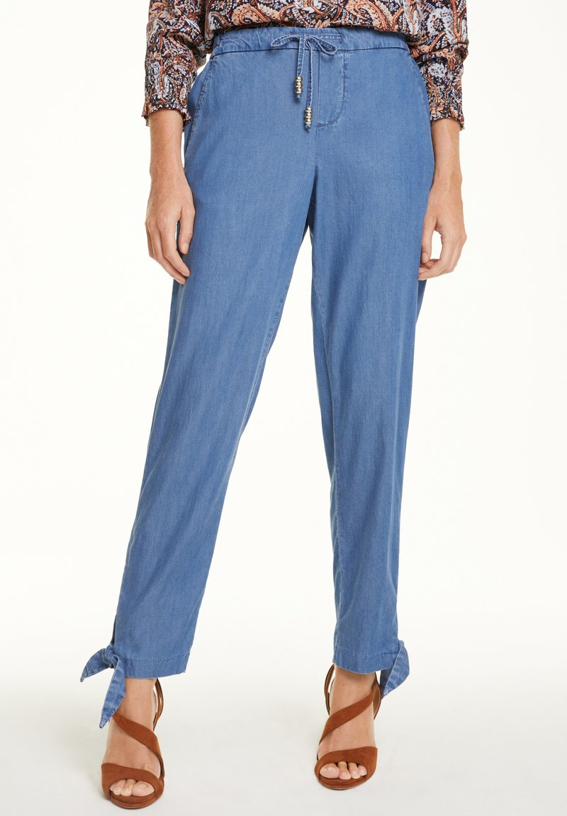 comma - Straight leg jeans - blue non stretched