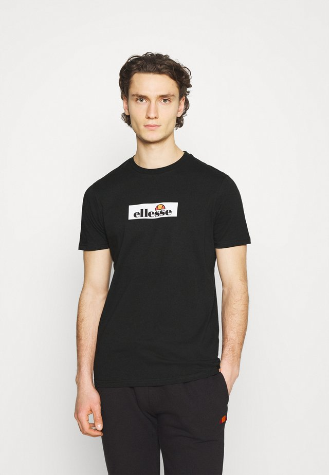 OMBRONO - T-shirt con stampa - black