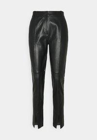 Bruuns Bazaar - PETRAH TILLY PANT - Leather trousers - black - 0