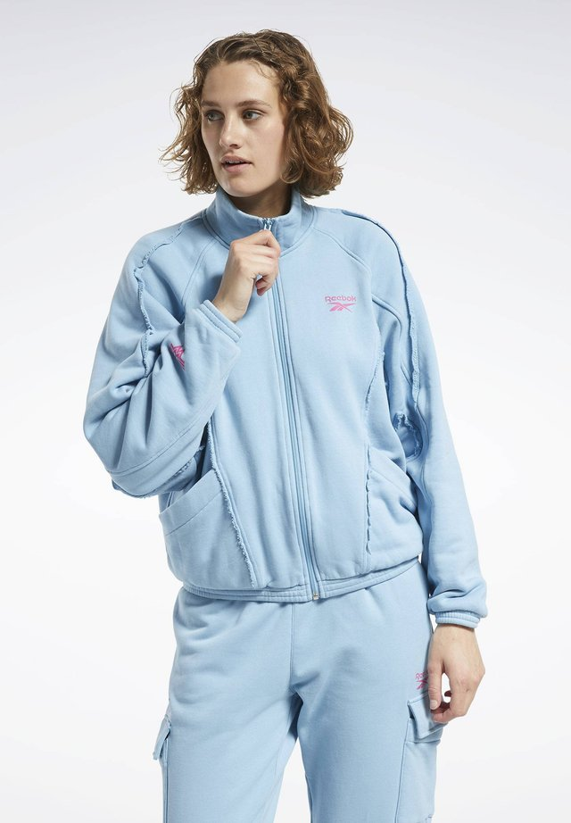veste en sweat zippée - wild blue