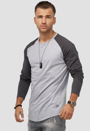 Long sleeved top - light grey melange
