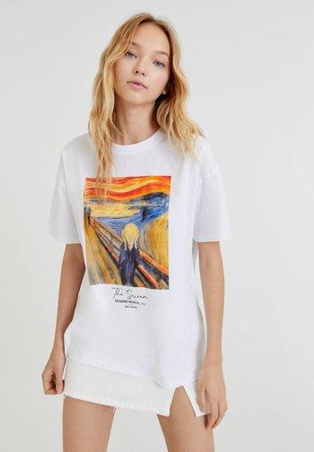 MUNCH DER SCHREI - Print T-shirt - white