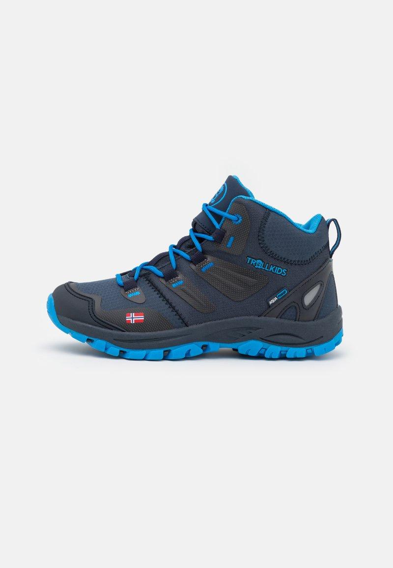 TrollKids - KIDS RONDANE MID UNISEX - Hiking shoes - navy/medium blue