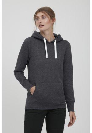 HOODIE OLIVE - Bluza z kapturem - dark grey melange