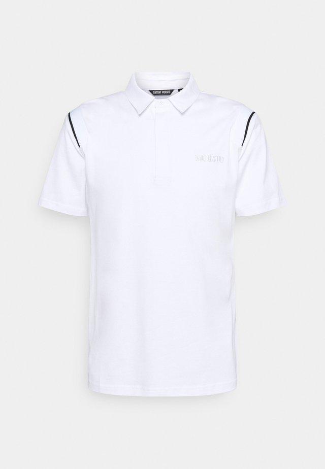 SLIM FIT LOGO PRINT - Polo shirt - bianco