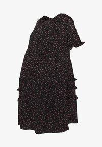 Topshop Maternity - DITSY LADDER TRIM MINI - Sukienka letnia - black - 4