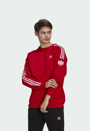 ADICOLOR 3D TREFOIL 3-STRIPES - Sudadera - red