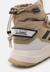 adidas Performance - TERREX HIKSTER MID COLD.RDY - Hiking shoes - beige tone/core black/focus blue - 5