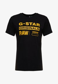 G-Star - GRAPHIC LOGO - Camiseta estampada - dark black - 3
