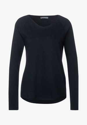 MIT RAGLAN-DETAILS - Long sleeved top - blau