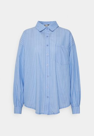 OVERSIZED STRIPE - Skjorte - blue