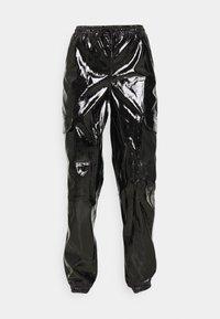 Karl Kani - SIGNATURE GLOSSY PANTS - Pantalon classique - black - 5