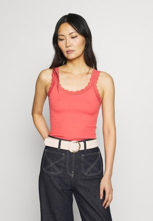 SARONA - Top - dark coral