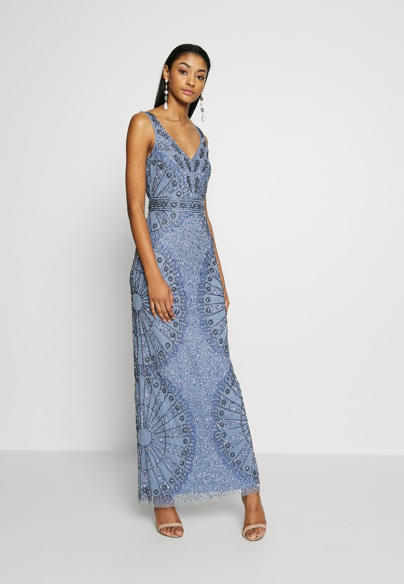 Lace & Beads - NAFISA - Occasion wear - dusty blue