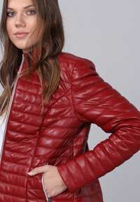 Basics and More - Leather jacket - red - 3