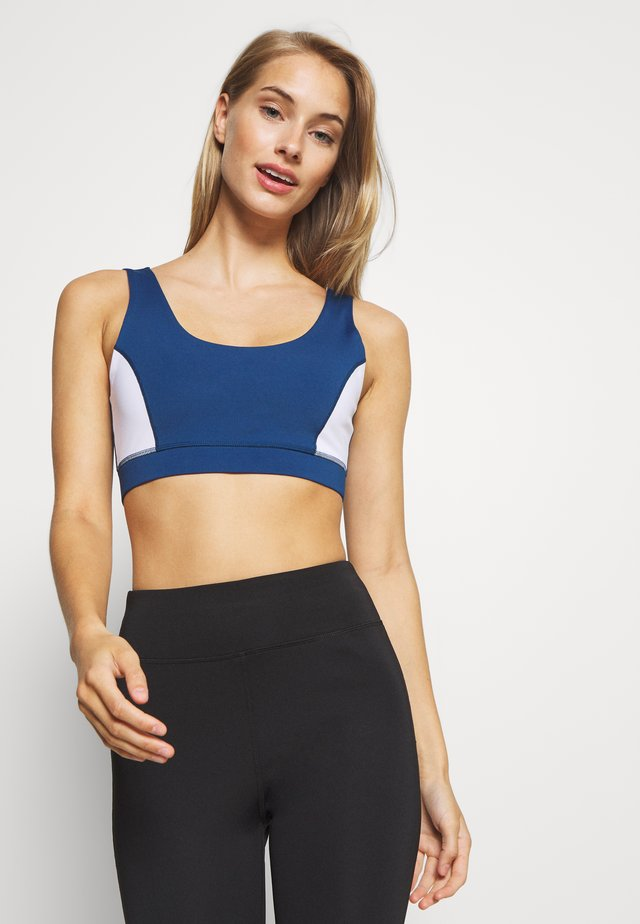 Sports bra - white/navy