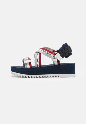 STRAPPY - Sandály na platformě - twilight navy