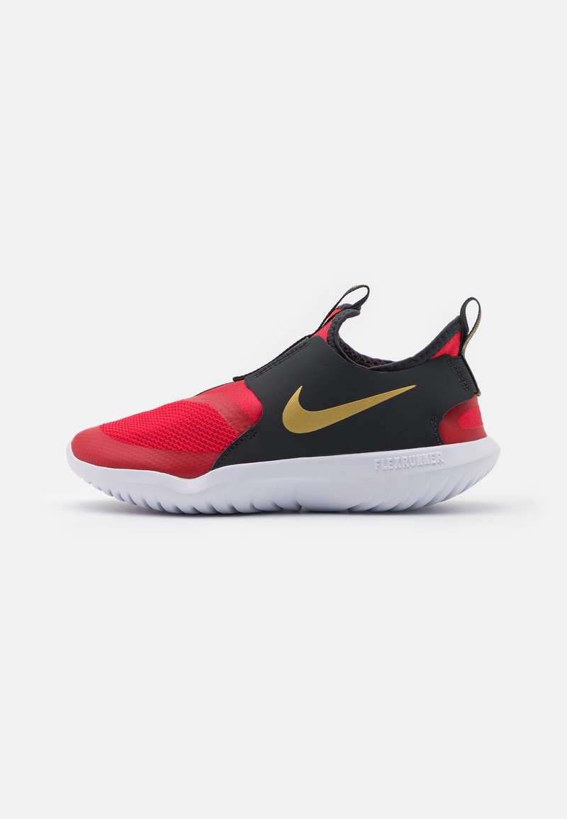 Nike Performance - FLEX RUNNER UNISEX - Zapatillas de running neutras - university red/metallic gold/dark smoke grey/white