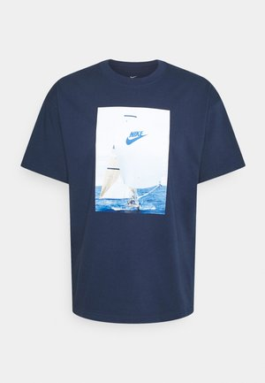 TEE - T-shirt med print - midnight navy