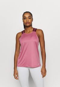 Nike Performance - DRY ELASTIKA TANK - Camiseta de deporte - desert berry/dark beetroot/white - 0