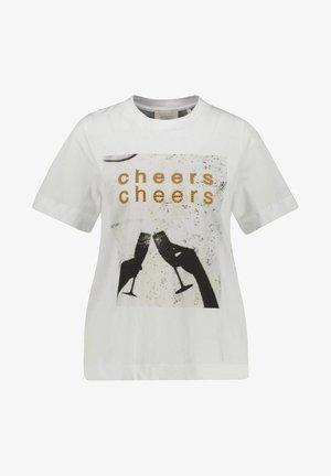 Print T-shirt - weiss