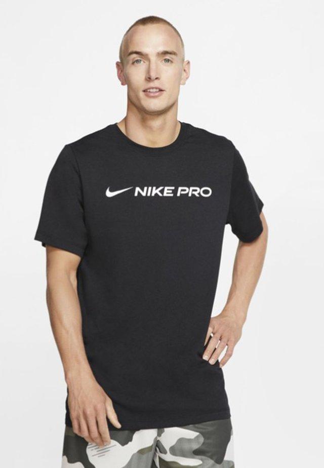 DRY TEE PRO - T-shirt z nadrukiem - black
