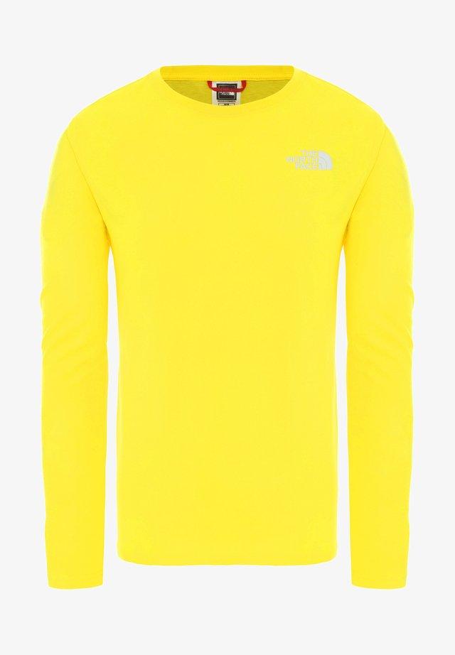 MENS BOX TEE - Longsleeve - yellow