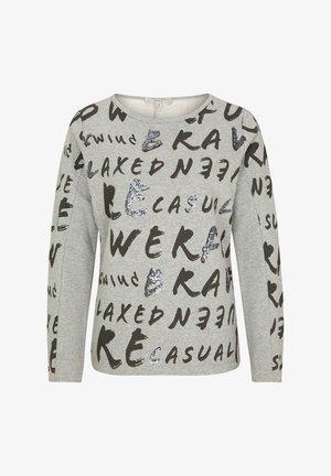 MIT PAILLETTEN - Sweatshirt - grey graffity aop