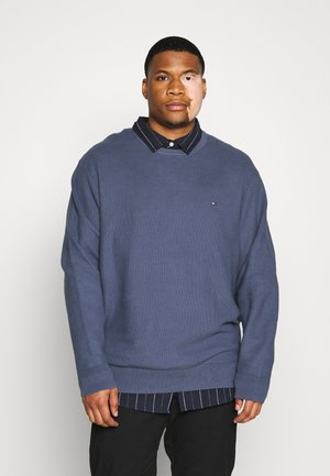 HONEYCOMB CREW NECK - Strickpullover - blue