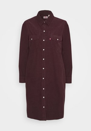 SELMA DRESS - Shirt dress - malbec