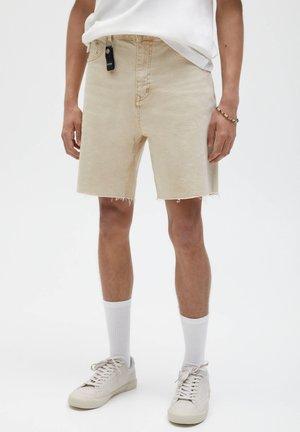 Jeans Shorts - mottled beige