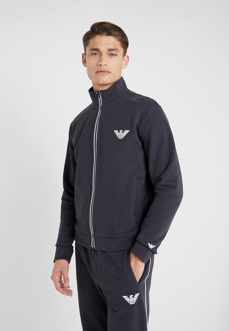 Emporio Armani - veste en sweat zippée - navy blue