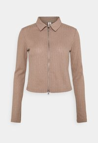 Nly by Nelly - DOUBLE ZIP - Cardigan - nougat - 0