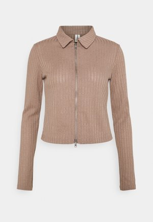 DOUBLE ZIP - Cardigan - nougat