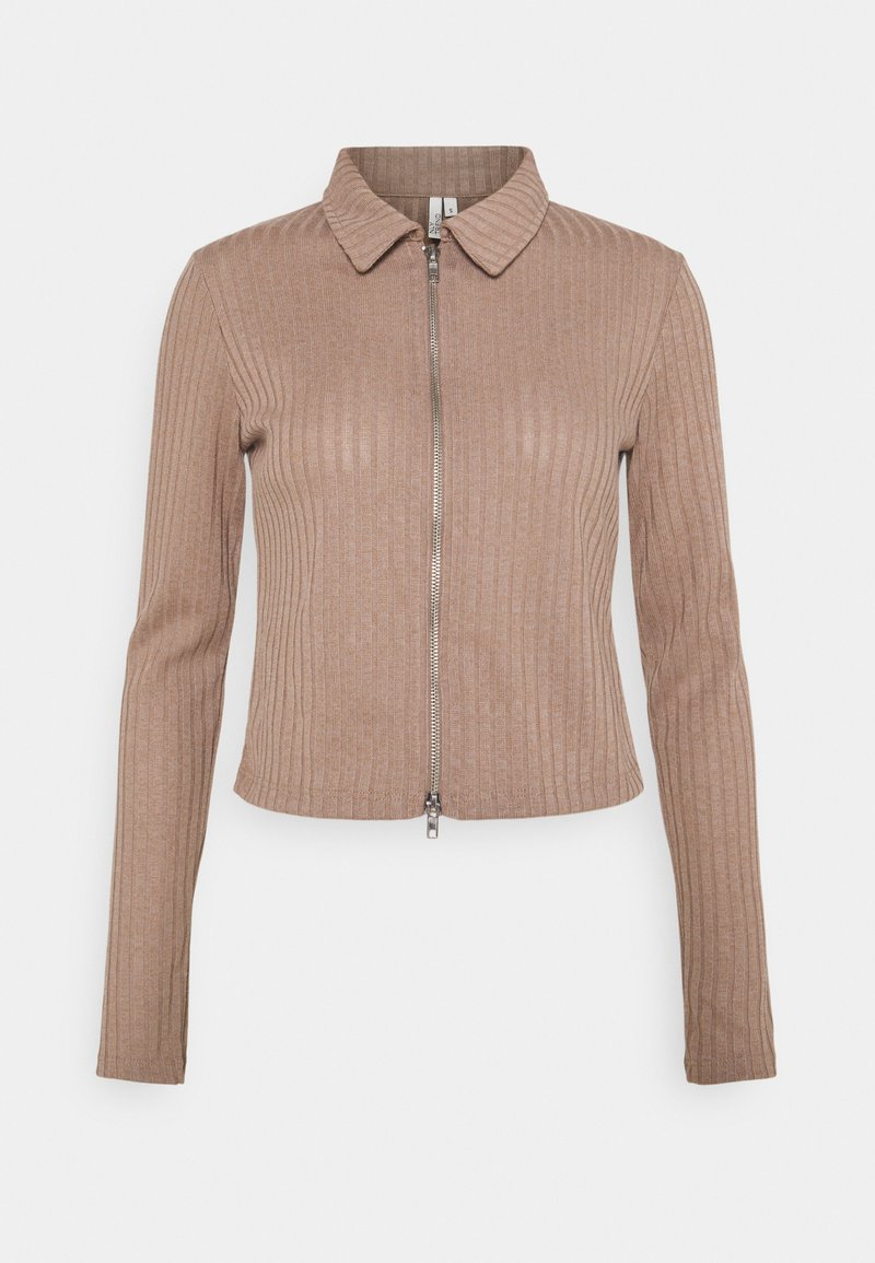 Nly by Nelly - DOUBLE ZIP - Cardigan - nougat