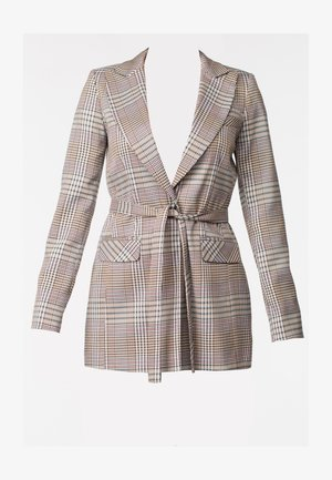 QUEST - Short coat - brown check