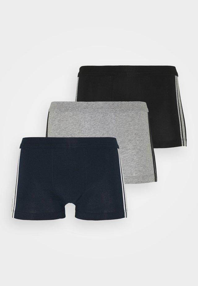 3PACK Shorts Organic Cotton Softbund - 95/5 Stretch - Onderbroeken - dark blue/grey/black