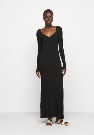 FREREA - Gebreide jurk - black