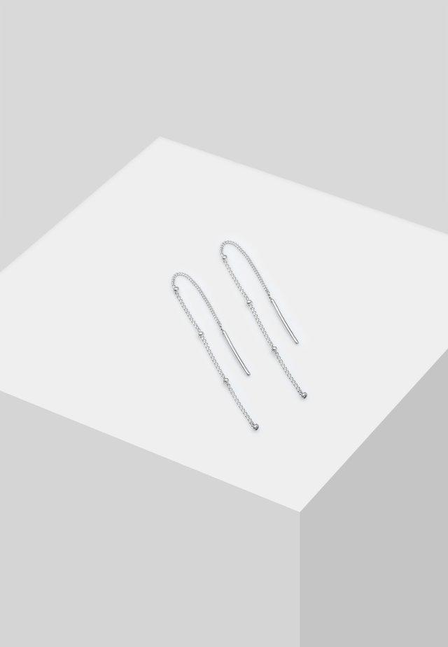 Øreringe - silver-coloured