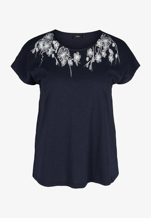 Print T-shirt - night sky flower