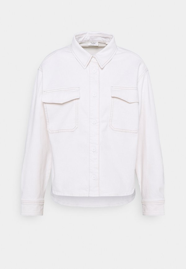Marc O'Polo DENIM CROPPED LONGSLEEVE - Koszula - multi/off-white cotton/mleczny SJUU