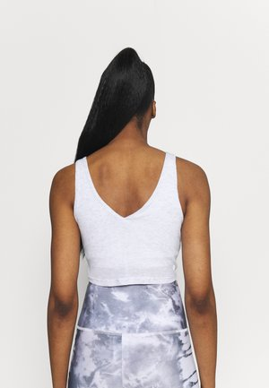 DOUBLE TROUBLE TANK - Top - grey marle