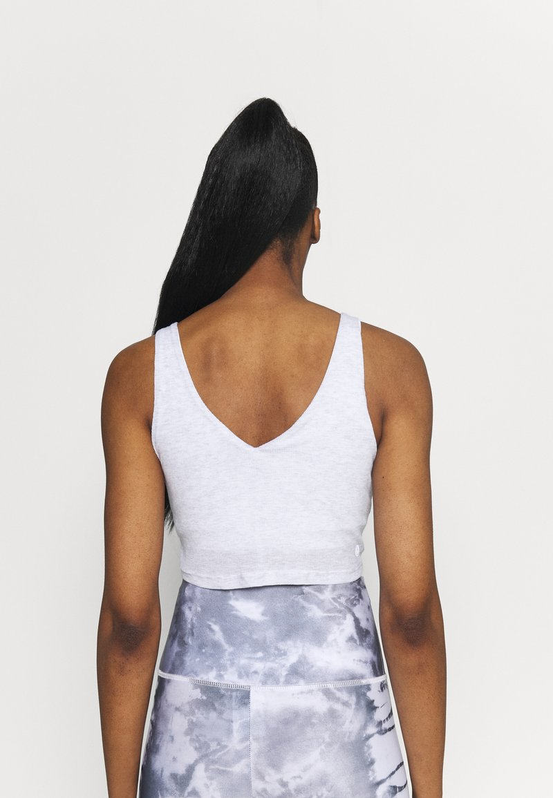 Cotton On Body - DOUBLE TROUBLE TANK - Top - grey marle