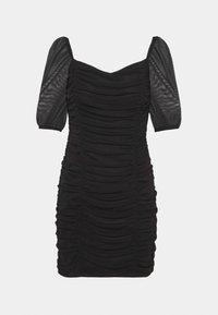 Miss Selfridge - PUFF SLEEVE DRESS - Cocktail dress / Party dress - black - 0
