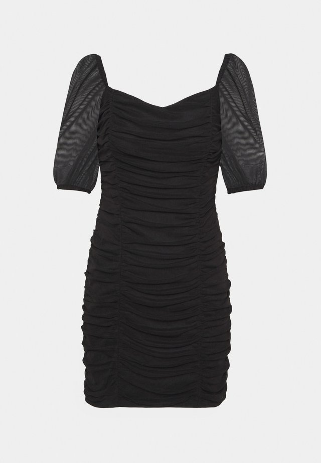 PUFF SLEEVE DRESS - Vestito elegante - black