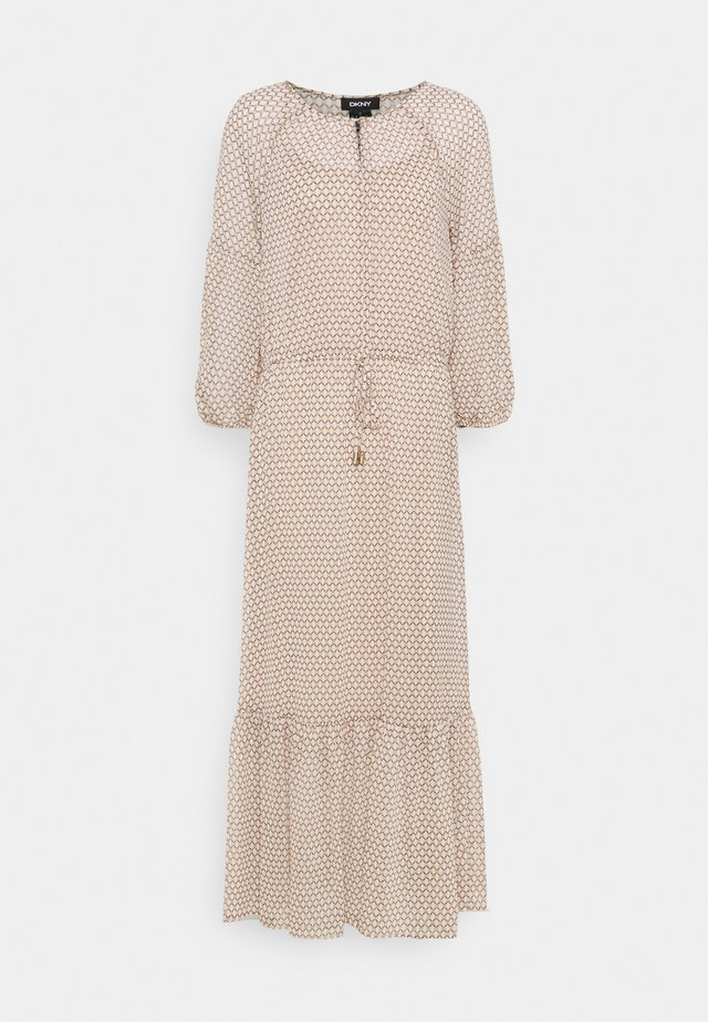 PEASANT DRESS - Maxi-jurk - brown