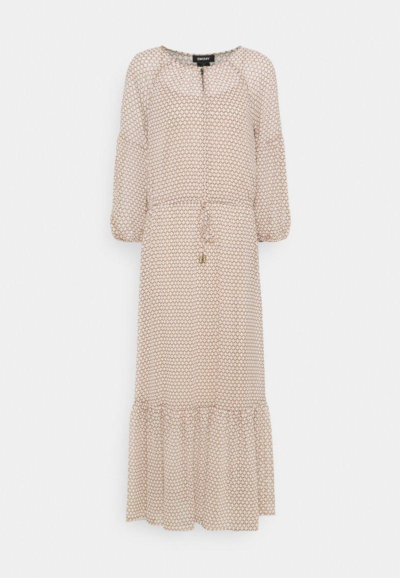 DKNY - PEASANT DRESS - Vestito lungo - brown